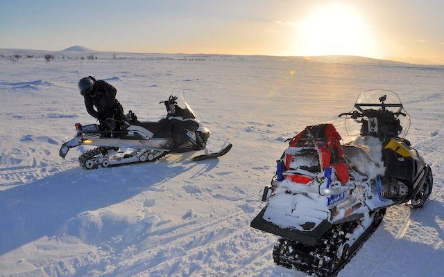 raid motoneige Laponie