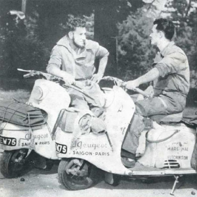 planet ride peugeot django scooters 1956
