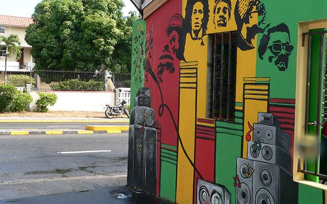 planet ride raid 4x4 jamaïque peinture rue