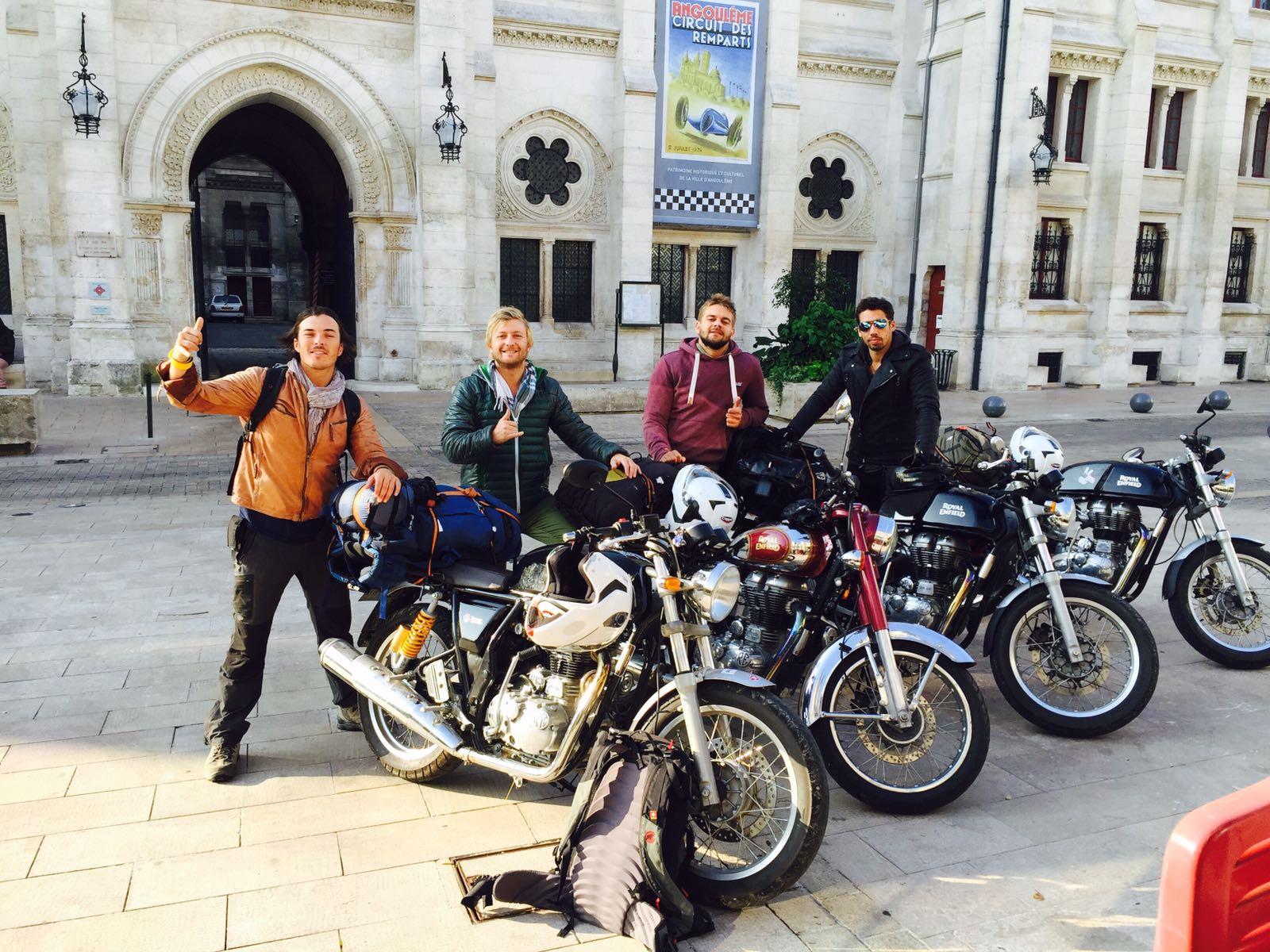 Planet Ride the trip en charent et royal enfield
