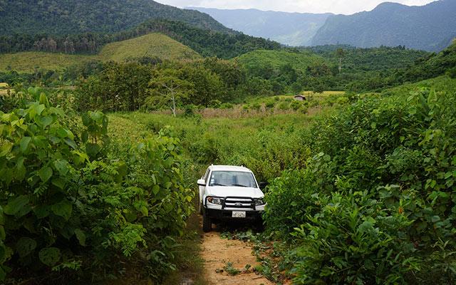 Piste au coeur des plaines Itinéraire Laos
