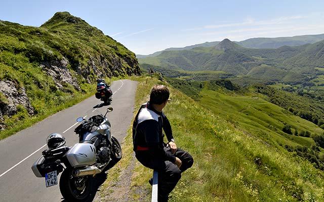 motard balade moto Auvergne
