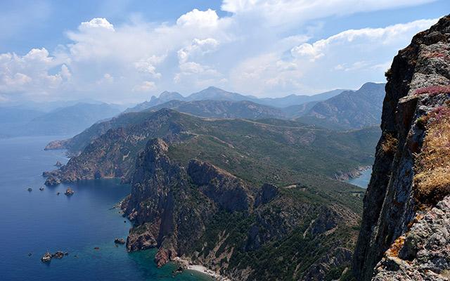 falaises road trip corse