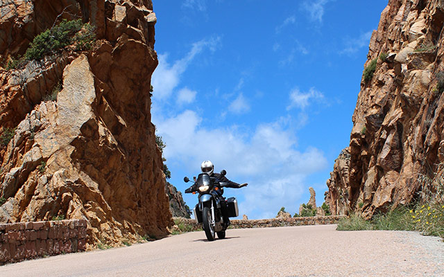 Corsica motorcycle routes