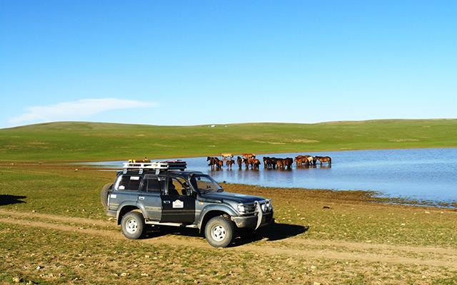 Raid 4x4 Mongolie lac
