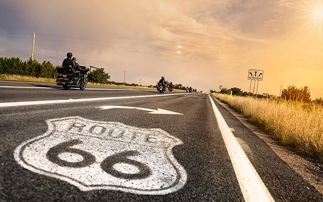 voyage route 66 moto