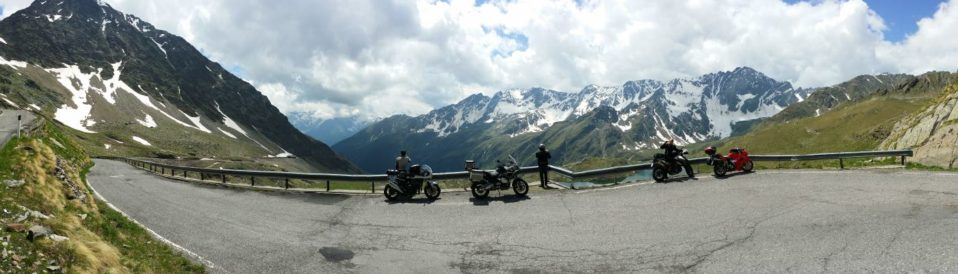 Stelvio pass motorcycle
