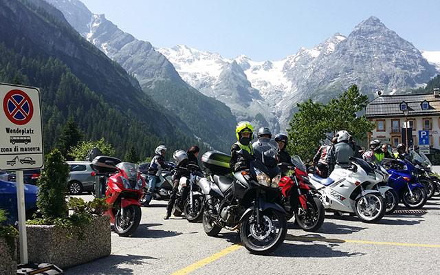 Stelvio pass motorcycle