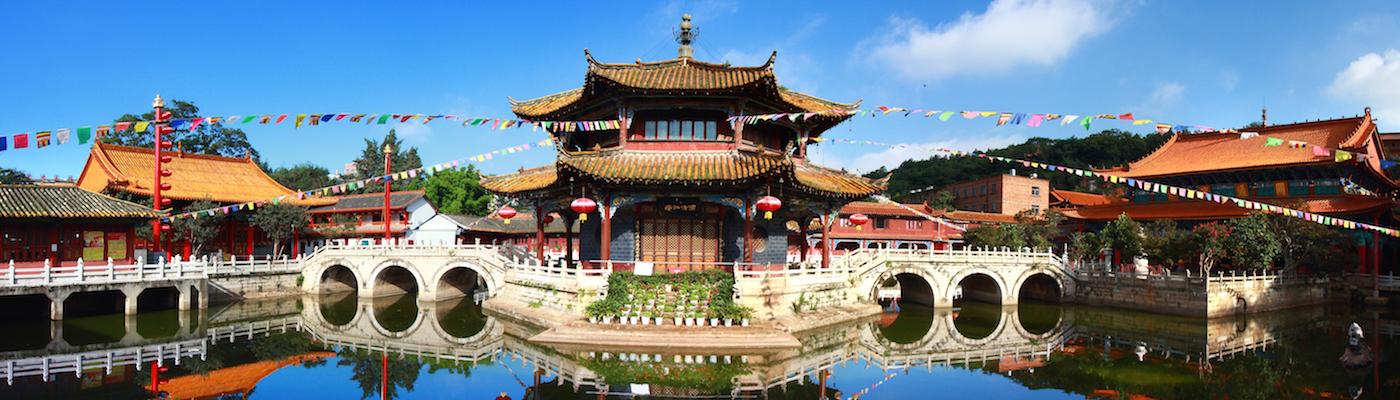 Yuantong Kunming Temple panorama